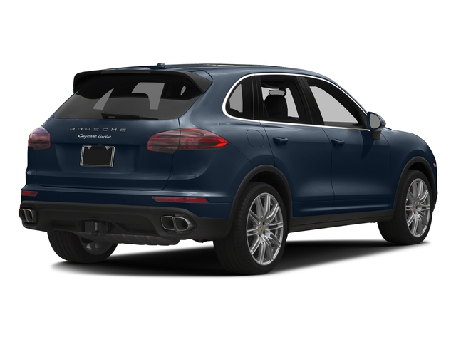 Moonlight Blue Metallic 2017 Porsche Cayenne Pictures Cayenne Turbo AWD photos rear view
