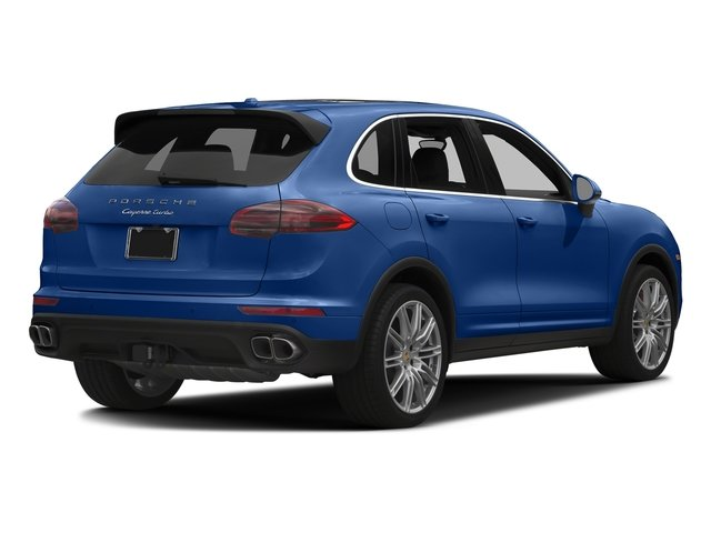 Sapphire Blue Metallic 2017 Porsche Cayenne Pictures Cayenne Turbo AWD photos rear view