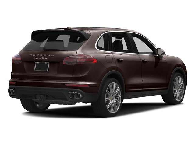 Mahogany Metallic 2017 Porsche Cayenne Pictures Cayenne Turbo AWD photos rear view