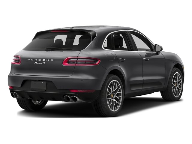 Volcano Grey Metallic 2017 Porsche Macan Pictures Macan Utility 4D Performance AWD V6 Turbo photos rear view