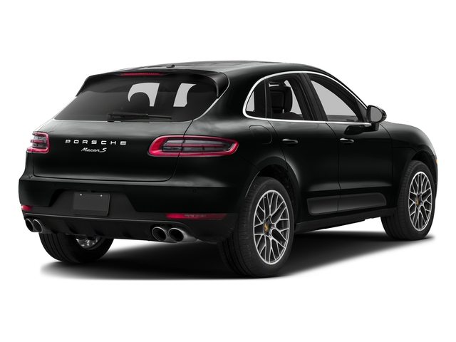 Jet Black Metallic 2017 Porsche Macan Pictures Macan Utility 4D S AWD V6 Turbo photos rear view