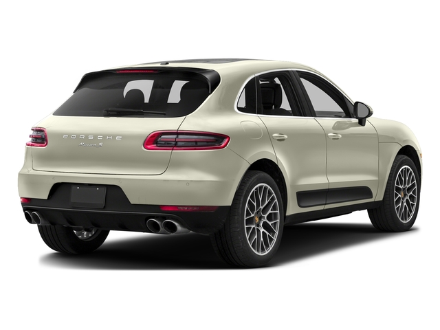 Carrara White Metallic 2017 Porsche Macan Pictures Macan Utility 4D S AWD V6 Turbo photos rear view