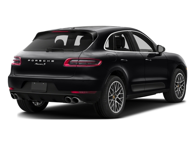 Black 2017 Porsche Macan Pictures Macan Utility 4D S AWD V6 Turbo photos rear view