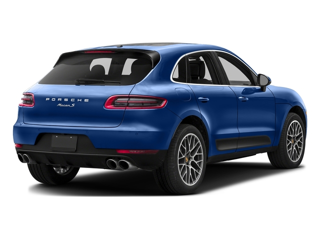 Sapphire Blue Metallic 2017 Porsche Macan Pictures Macan Utility 4D Performance AWD V6 Turbo photos rear view
