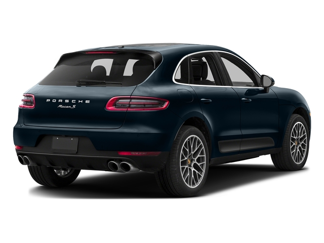 Night Blue Metallic 2017 Porsche Macan Pictures Macan Utility 4D S AWD V6 Turbo photos rear view