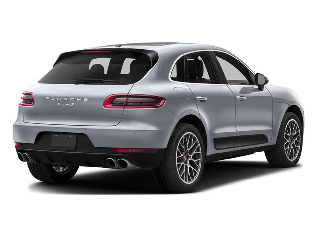 Rhodium Silver Metallic 2017 Porsche Macan Pictures Macan Utility 4D Performance AWD V6 Turbo photos rear view