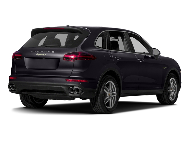 Purpurite Metallic 2017 Porsche Cayenne Pictures Cayenne S E-Hybrid AWD photos rear view