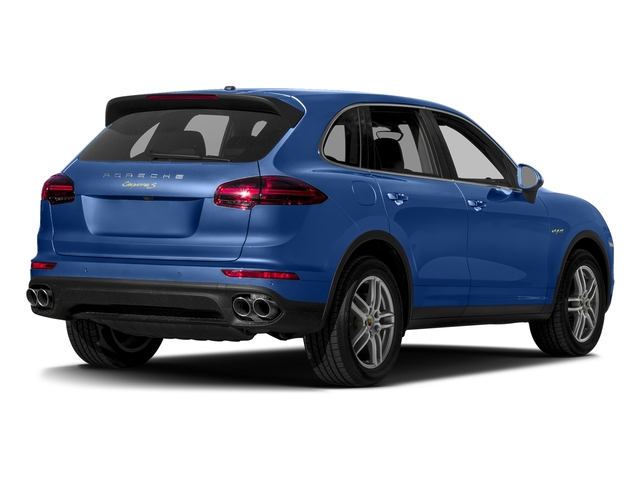 Sapphire Blue Metallic 2017 Porsche Cayenne Pictures Cayenne S E-Hybrid AWD photos rear view