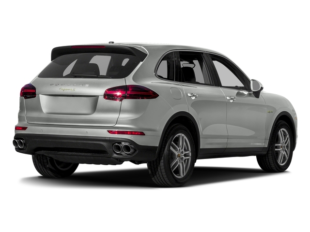 Rhodium Silver Metallic 2017 Porsche Cayenne Pictures Cayenne S E-Hybrid AWD photos rear view