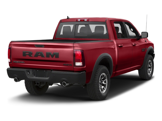 Flame Red Clearcoat 2017 Ram Truck 1500 Pictures 1500 Rebel 4x2 Crew Cab 5'7 Box photos rear view