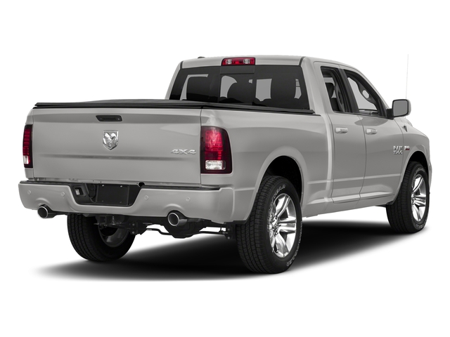 Bright Silver Metallic Clearcoat 2017 Ram Truck 1500 Pictures 1500 Night 4x2 Quad Cab 6'4 Box photos rear view