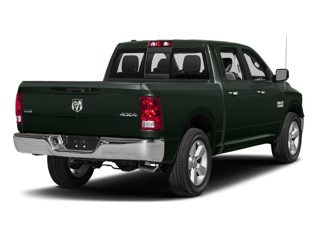 Black Forest Green Pearlcoat 2017 Ram Truck 1500 Pictures 1500 Big Horn 4x2 Crew Cab 6'4 Box photos rear view