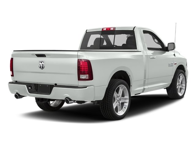 Bright White Clearcoat 2017 Ram Truck 1500 Pictures 1500 Night 4x2 Regular Cab 6'4 Box photos rear view