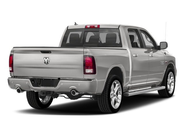 Bright Silver Metallic Clearcoat 2017 Ram Truck 1500 Pictures 1500 Night 4x4 Crew Cab 5'7 Box photos rear view