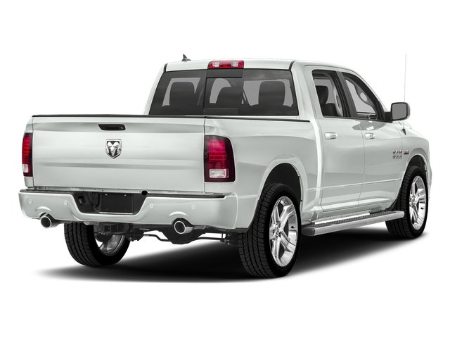 Bright White Clearcoat 2017 Ram Truck 1500 Pictures 1500 Night 4x2 Crew Cab 5'7 Box photos rear view