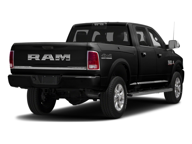 Brilliant Black Crystal Pearlcoat 2017 Ram Truck 2500 Pictures 2500 Crew Cab Longhorn 2WD photos rear view
