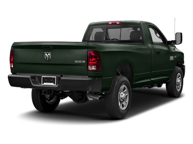 Black Forest Green Pearlcoat 2017 Ram Truck 3500 Pictures 3500 Regular Cab SLT 4WD photos rear view