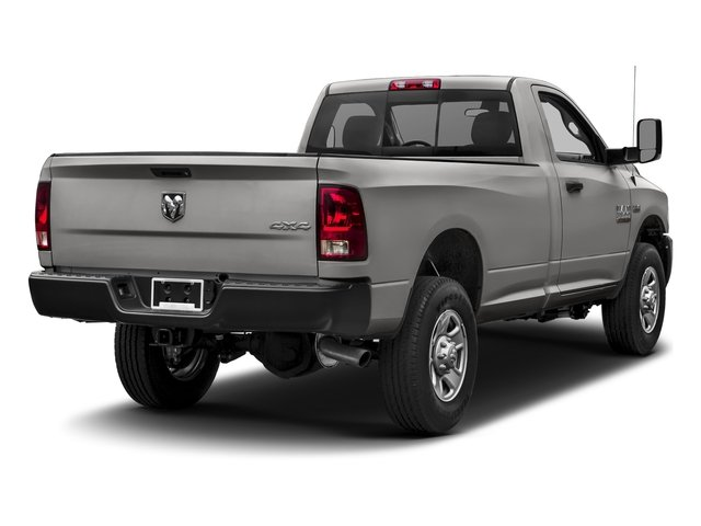 Bright Silver Metallic Clearcoat 2017 Ram Truck 3500 Pictures 3500 Regular Cab SLT 2WD photos rear view