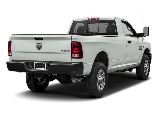 Bright White Clearcoat 2017 Ram Truck 3500 Pictures 3500 Regular Cab SLT 4WD photos rear view