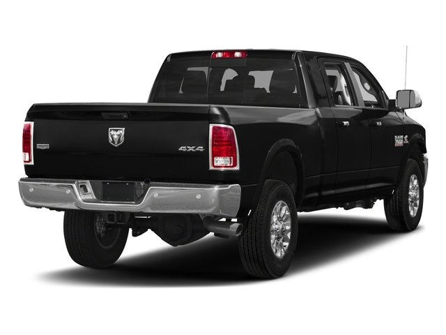 Brilliant Black Crystal Pearlcoat 2017 Ram Truck 3500 Pictures 3500 Laramie Longhorn 4x2 Mega Cab 6'4 Box photos rear view