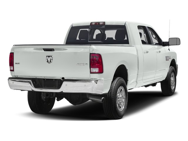 Bright White Clearcoat 2017 Ram Truck 3500 Pictures 3500 SLT 4x2 Mega Cab 6'4 Box photos rear view