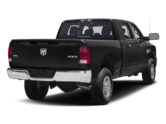 Brilliant Black Crystal Pearlcoat 2017 Ram Truck 3500 Pictures 3500 SLT 4x2 Mega Cab 6'4 Box photos rear view