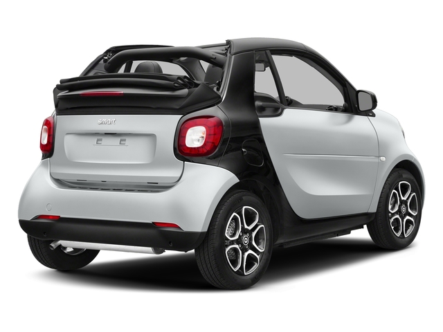 Moon White Matte 2017 smart fortwo Pictures fortwo Convertible 2D Prime I3 Turbo photos rear view