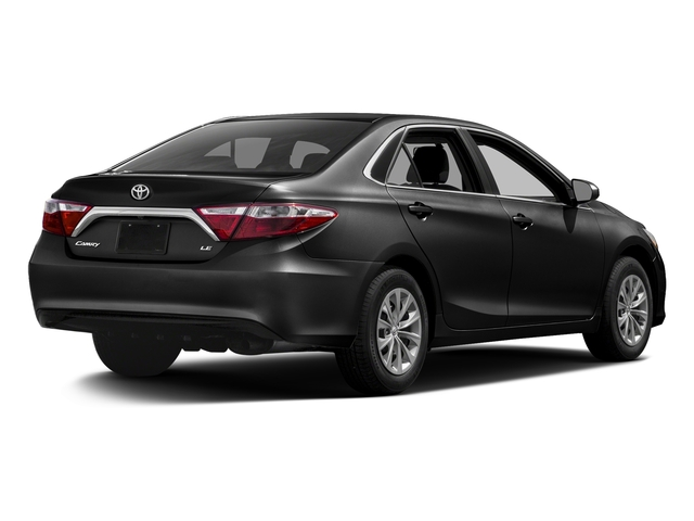 Midnight Black Metallic 2017 Toyota Camry Pictures Camry Sedan 4D XLE I4 photos rear view