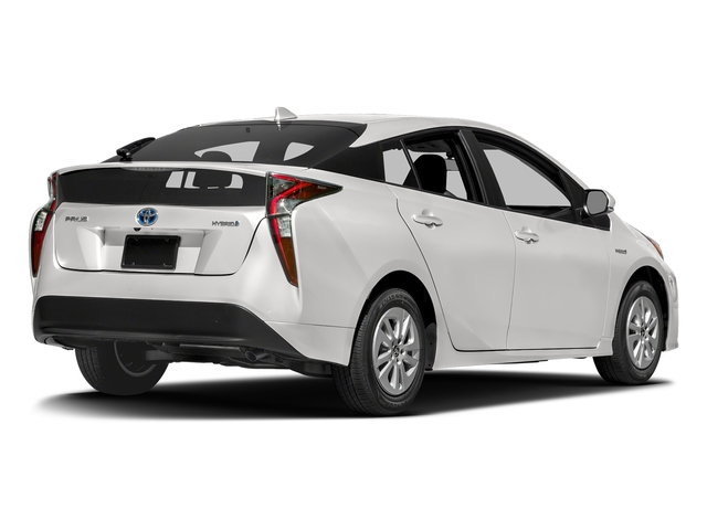 Super White 2017 Toyota Prius Pictures One Photos Rear View