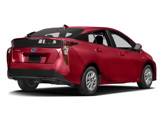 Hypersonic Red 2017 Toyota Prius Pictures Prius Liftback 5D Four I4 Hybrid photos rear view