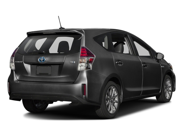 Magnetic Gray Metallic 2017 Toyota Prius v Pictures Prius v Liftback 5D v Five I4 Hybrid photos rear view