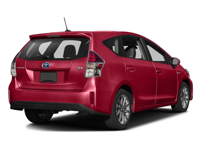 Absolutely Red 2017 Toyota Prius v Pictures Prius v Liftback 5D v Five I4 Hybrid photos rear view
