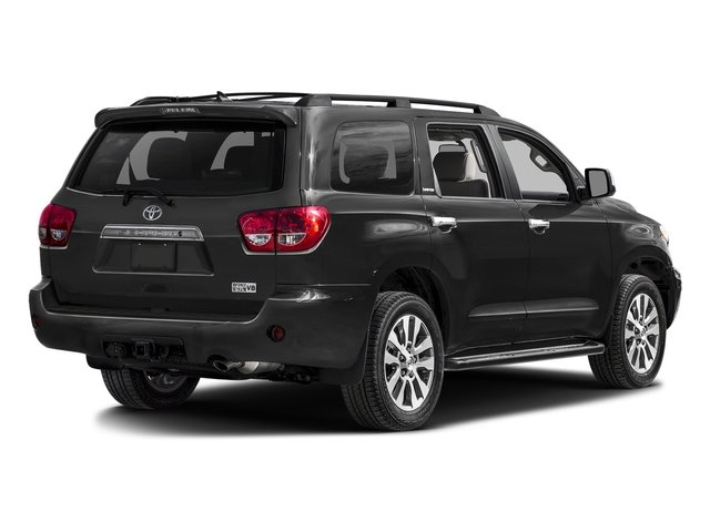 Black 2017 Toyota Sequoia Pictures Sequoia Utility 4D Limited 2WD V8 photos rear view