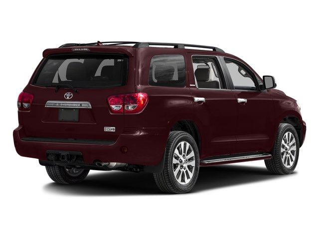 Sizzling Crimson Mica 2017 Toyota Sequoia Pictures Sequoia Utility 4D Limited 2WD V8 photos rear view