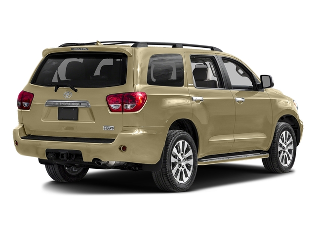 Sandy Beach Metallic 2017 Toyota Sequoia Pictures Sequoia Utility 4D Limited 2WD V8 photos rear view