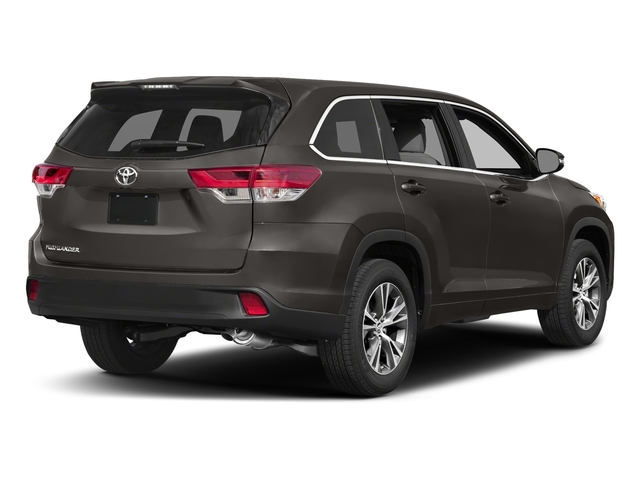 Predawn Gray Mica 2017 Toyota Highlander Pictures Highlander Utility 4D LE 4WD V6 photos rear view