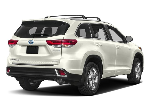 Blizzard Pearl 2017 Toyota Highlander Pictures Highlander Utility 4D LE 4WD V6 Hybrid photos rear view
