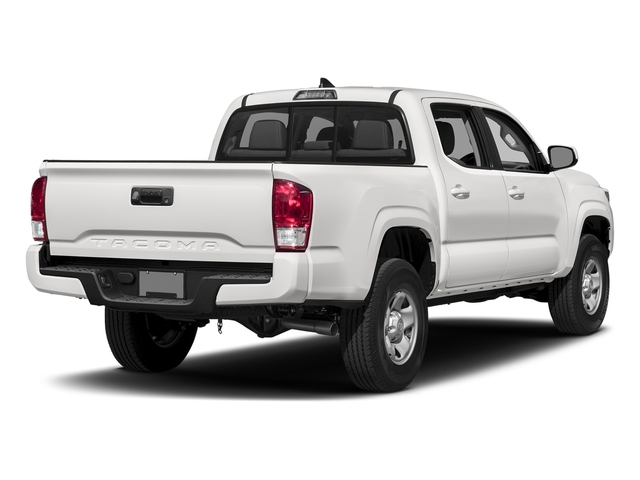 Super White 2017 Toyota Tacoma Pictures Tacoma SR Crew Cab 4WD V6 photos rear view