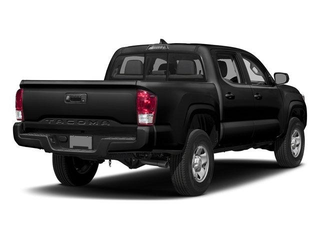 Black 2017 Toyota Tacoma Pictures Tacoma SR Crew Cab 4WD V6 photos rear view