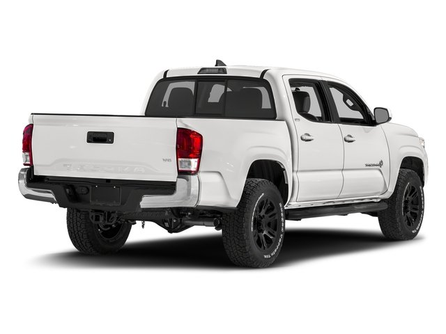 Super White 2017 Toyota Tacoma Pictures Tacoma SR5 Crew Cab 2WD V6 photos rear view
