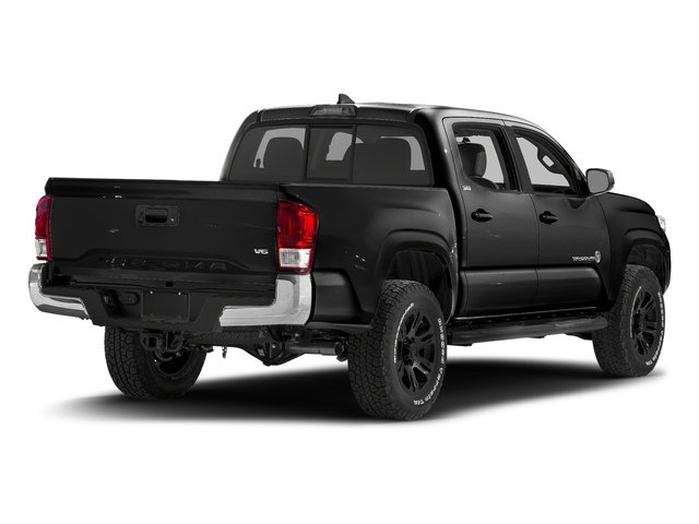 Black 2017 Toyota Tacoma Pictures Tacoma SR5 Crew Cab 2WD V6 photos rear view
