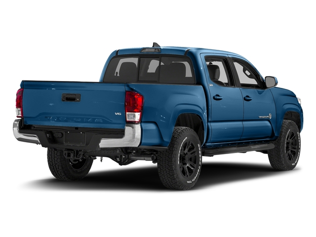 Blazing Blue Pearl 2017 Toyota Tacoma Pictures Tacoma SR5 Crew Cab 2WD V6 photos rear view
