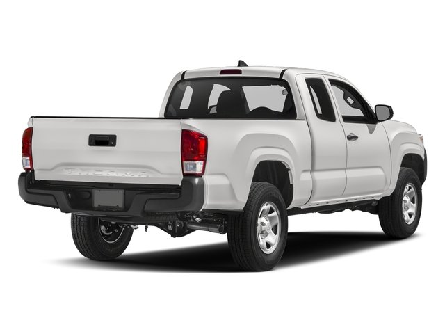 Super White 2017 Toyota Tacoma Pictures Tacoma SR Extended Cab 2WD V6 photos rear view