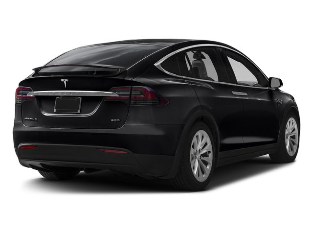 Solid Black 2017 Tesla Motors Model X Pictures Model X Utility 4D 90 kWh AWD Electric photos rear view