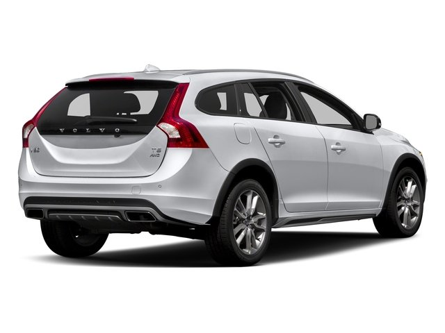 Ice White 2017 Volvo V60 Cross Country Pictures V60 Cross Country Wagon 5D T5 Platinum AWD I4 Turbo photos rear view