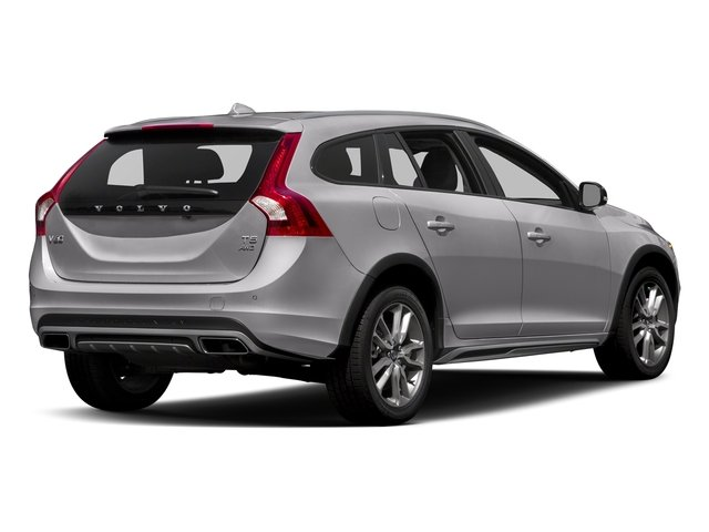 Bright Silver Metallic 2017 Volvo V60 Cross Country Pictures V60 Cross Country Wagon 5D T5 Platinum AWD I4 Turbo photos rear view