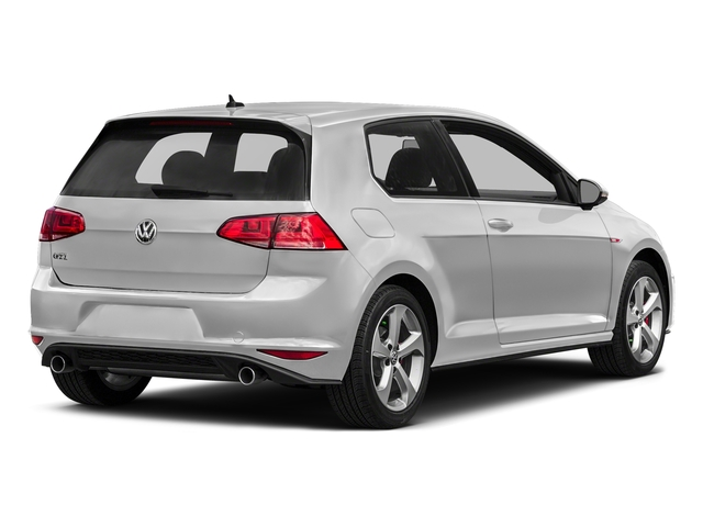 Pure White 2017 Volkswagen Golf GTI Pictures Golf GTI 2.0T 2-Door S Manual photos rear view