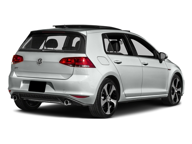 Pure White 2017 Volkswagen Golf GTI Pictures Golf GTI 2.0T 4-Door SE Manual photos rear view