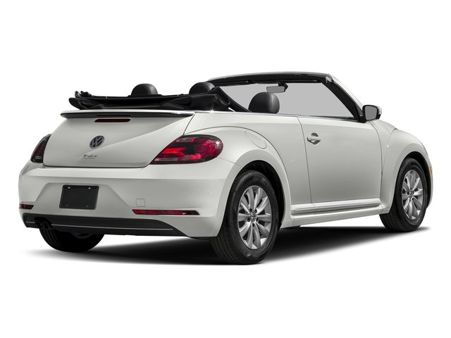 Pure White/Black Roof 2017 Volkswagen Beetle Convertible Pictures Beetle Convertible 1.8T Classic Auto photos rear view