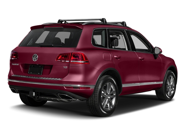 Deep Red Metallic 2017 Volkswagen Touareg Pictures Touareg V6 Wolfsburg Edition photos rear view